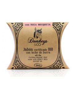 Jabón Leche de Burra Rosa...